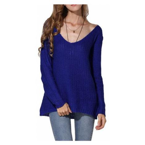 Dámsky oversize sveter Lena - modrý