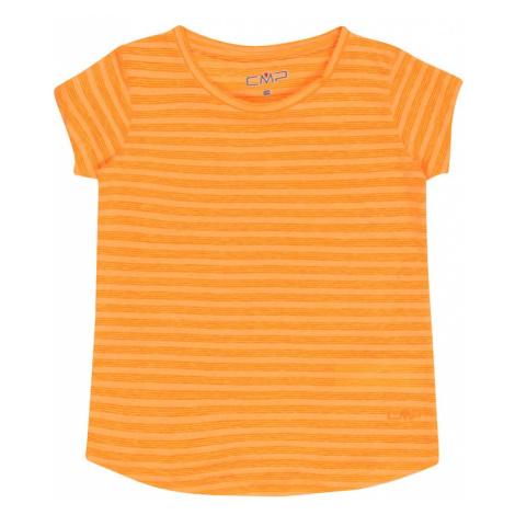 CMP Funkčné tričko  žltá melírovaná / šafránová