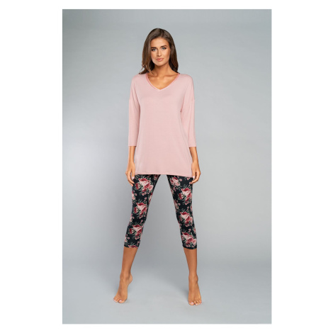 Dámske pyžamo Italian Fashion Symfonie 3/4 Růžová