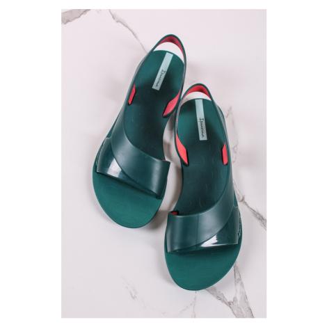 Tmavozelené gumené sandále Go Minimal Ipanema