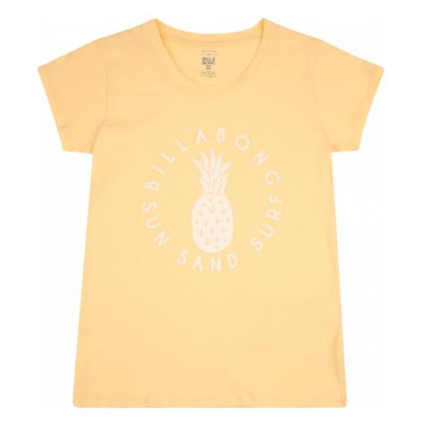 BILLABONG Funkčné tričko  broskyňová / biela