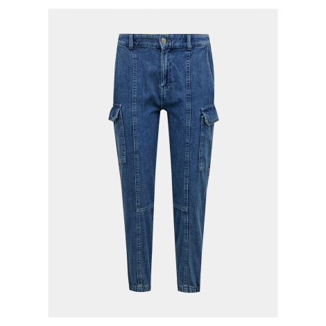 Modré straight fit džínsy s vreckami TALLY WEiJL
