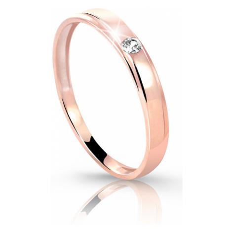 Cutie Diamonds Prsteň z ružového zlata s briliantom DZ6707-1617-00-X-4 mm Cutie Jewellery