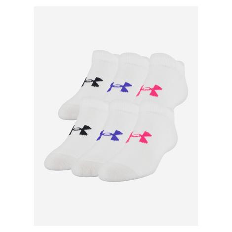 Ponožky Under Armour Girl\'S Essential Ns Biela