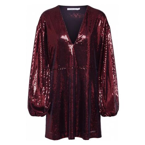 IVYREVEL Kokteilové šaty 'FLOWY SEQUIN'  burgundská