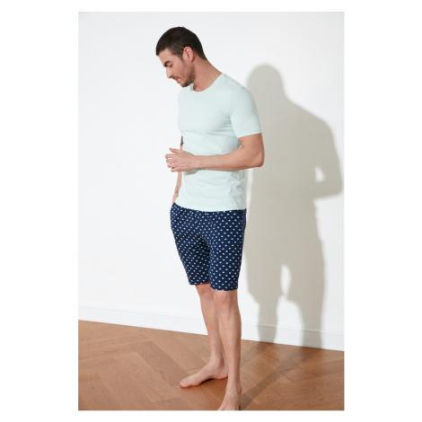 Trendyol Mint Polka-esthetic Knitted Pyjama Set