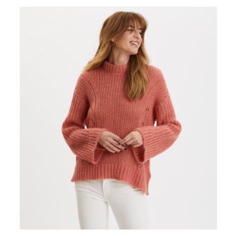Sveter Odd Molly Comfort Oversized Sweater - Červená