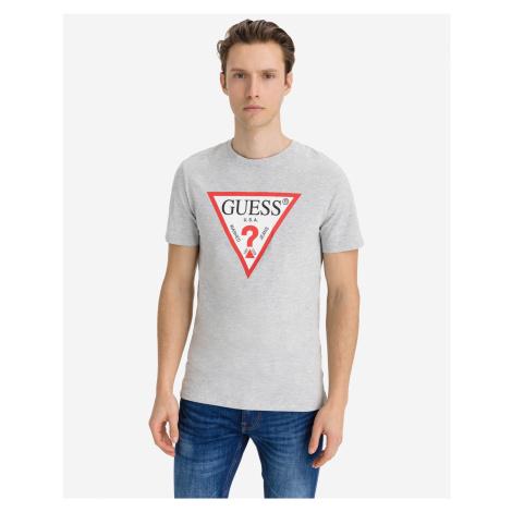 Guess sivé pánske tričko Original Logo