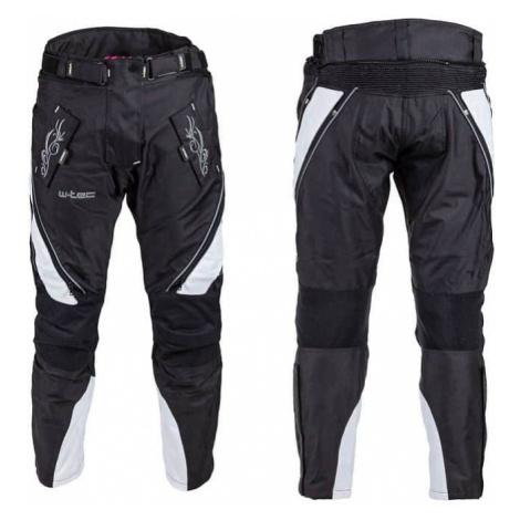 Dámske moto nohavice W-TEC Kaajla NF-2683 Farba čierno-biela