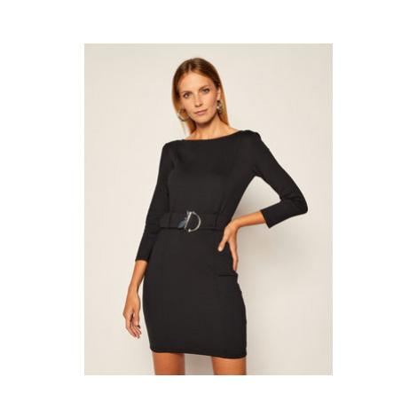 Patrizia Pepe Koktejlové šaty 8A0771/A7M7-K103 Čierna Regular Fit