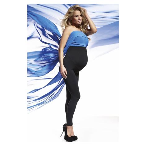 Těhotenské legíny s vysokým pasem Bas Bleu Anabel PZ Černá