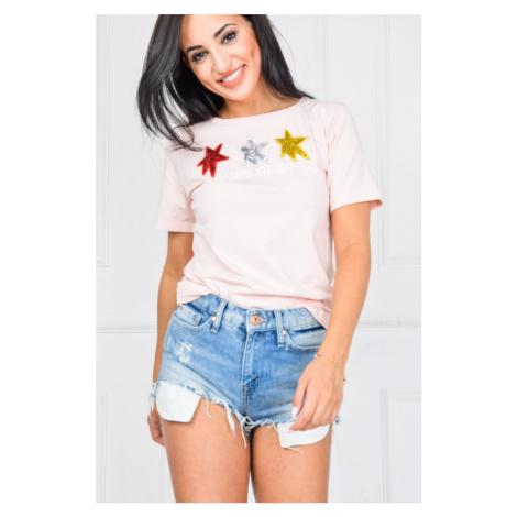 Dámske ružové tričko s hviedzičkami