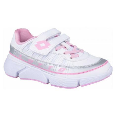 Lotto LIBRA AMF 1 CL SL biela - Detská voľnočasová obuv
