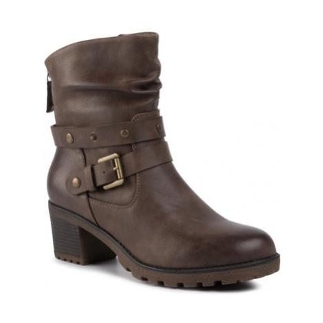 Členkové topánky Clara Barson WS0337-01 koža ekologická