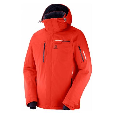 Lyžiarska bunda SALOMON Brilliant Jkt M Fiery Red Červená