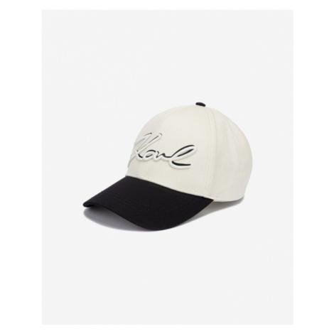 Karl Lagerfeld New Signature Šiltovka Čierna Béžová
