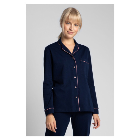Tmavomodrá pyžamová košeľa LA019