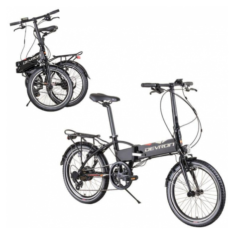 "Skladací elektrobicykel Devron 20124 20"" - model 2019 Farba čierna"