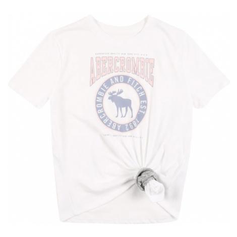 Abercrombie & Fitch Tričko  biela / svetloružová / svetlomodrá