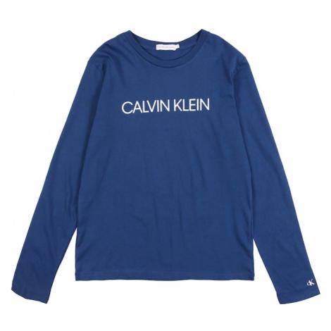 Calvin Klein Jeans Tričko  modrá / biela