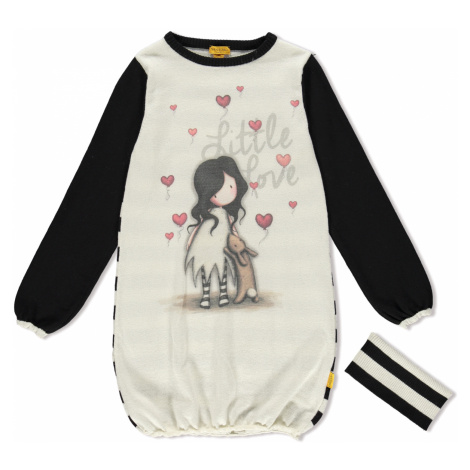Santoro úpletové dievčenské šaty I Love You Little Rabbit Santoro London
