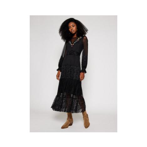 Desigual Koktejlové šaty Pekin 20WWVK58 Čierna Regular Fit