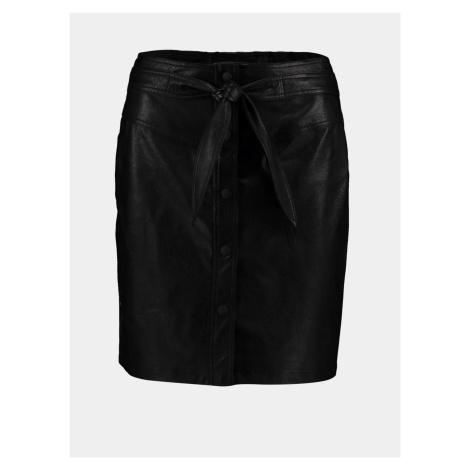 Hailys čierne koženková sukňa Haily´s