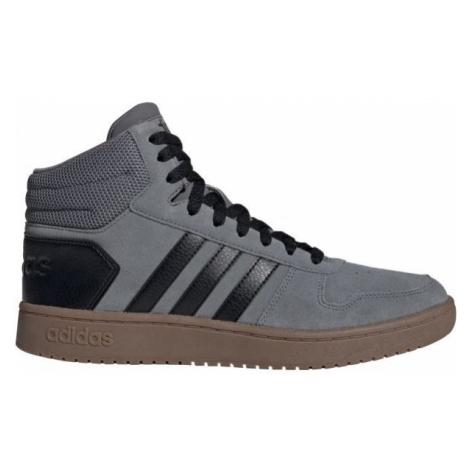 adidas HOOPS 2.0 MID modrá - Pánska členková obuv