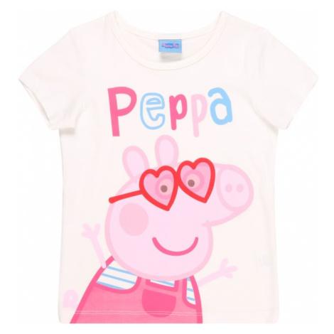 Peppa Pig Tričko  biela / zmiešané farby