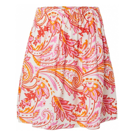 Zwillingsherz Sukňa 'Vinny'  oranžová / červená / ružová / biela