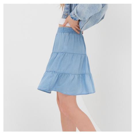 Sinsay - Volánová sukňa - Modrá