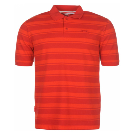 Slazenger Pique YD Polo Shirt pánske Red