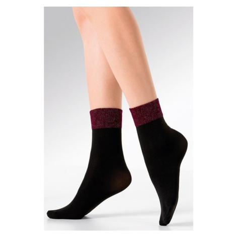 Čierno-bordové silonkové ponožky Lex Gabriella