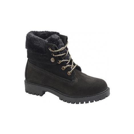 Čierna kožená šnurovacia obuv Landrover