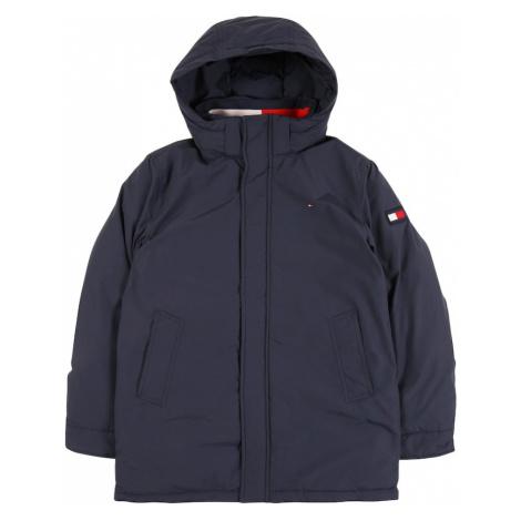 TOMMY HILFIGER Prechodná bunda  tmavomodrá / biela / ohnivo červená