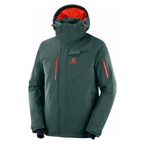 Salomon BRILLIANT JKT M zelená - Pánska lyžiarska bunda