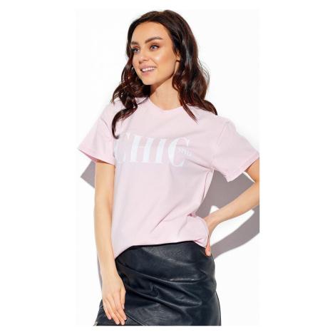 Dámske svetloružové tričko s krátkym rukávom LG537 Lemoniade