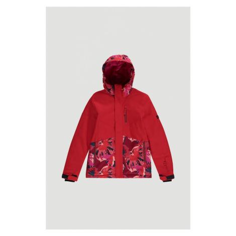 O'NEILL Outdoorová bunda  ohnivo červená / ružová / tmavomodrá