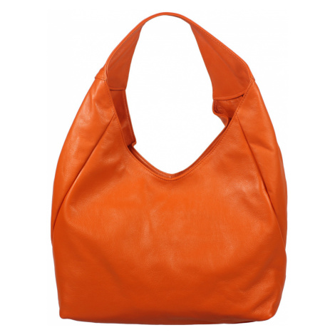 Talianská kožená kabelka Tita Arancione Chiaro