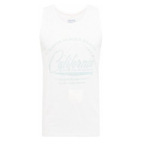 BLEND Tričko  prírodná biela / azúrová
