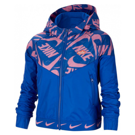Nike NSW WR JACKET JDIY G modrá - Dievčenská bunda