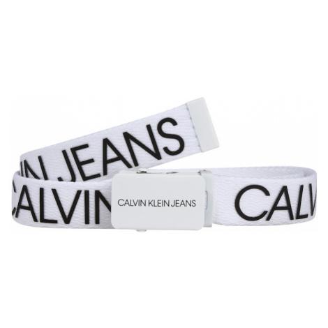 Calvin Klein Jeans Opasky  biela / čierna