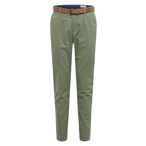 TOM TAILOR DENIM Chino nohavice  zelená