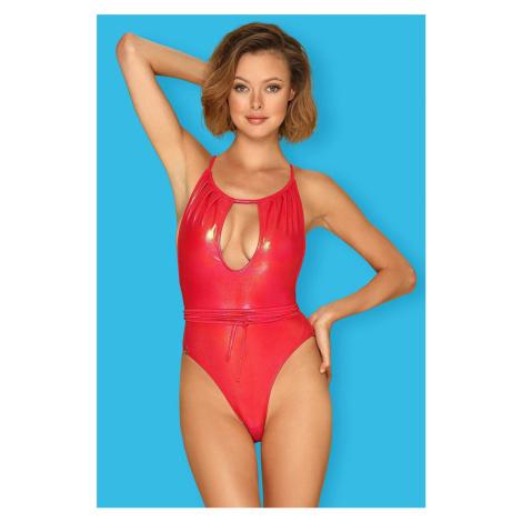 Červené nevystužené plavky Keissi Obsessive