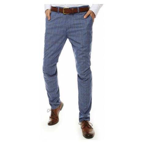 Elegantné vzorované granátové nohavice DStreet
