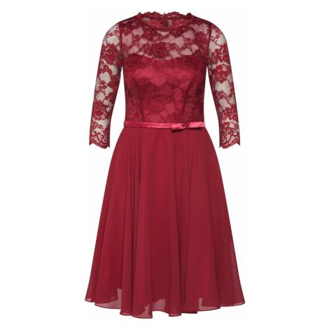 mascara Kokteilové šaty  vínovo červená