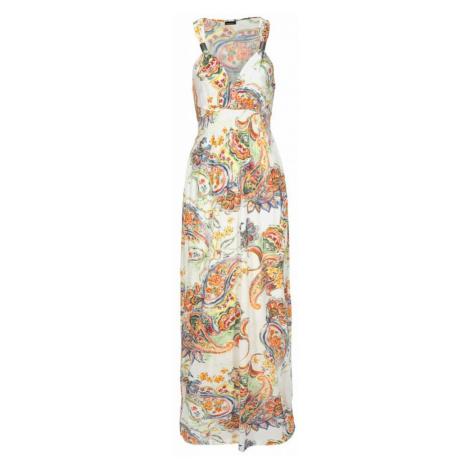 LASCANA Plážové šaty  svetlooranžová / biela