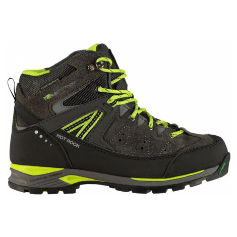 Karrimor Hot Rock Childrens Walking Boots Charcoal/Green