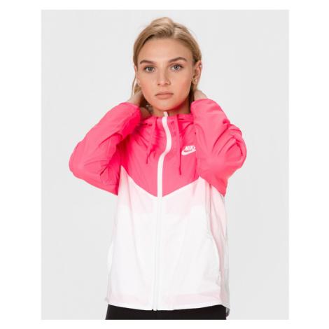 Nike Sportswear Windrunner Bunda Ružová Biela