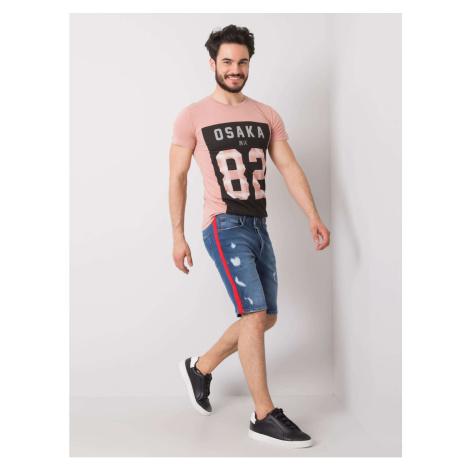 Men's blue denim shorts